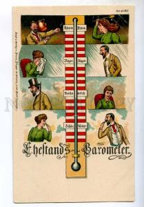 244977 Barometer for Family LOVERS Vintage Burger LITHO PC