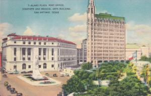 SAN ANTONIO, Texas; Alamo PLaza Post Office, Cenotaph and Medical Arts Buildi...