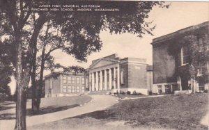 Massachusetts Andover Junior High Memorial Auditorium And Punchard High School