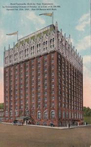 Nebraska Omaha Hotel Fontenelle 1916 Curteich