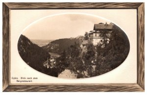 Germany Oybin Blick nach dem Bergrestaurant  wood grain border