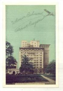 Airplane over Hotel Rueger, Richmond, Virginia, 20-30s