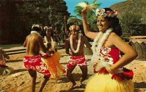 Tahitian dancing troupe  Tamure  dance postcard