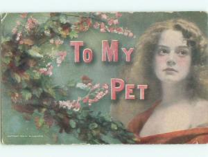 Divided-Back PRETTY WOMAN Risque Interest Postcard AA8036