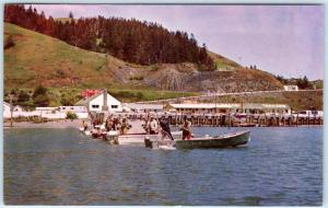 GOLD BEACH, Oregon  OR   Mouth Rogue River  CHINOOK SALMON FISHING  Postcard