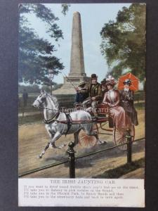Ireland IRISH JAUNTING CAR If you want to drive round Dublin - Old Postcard 8210