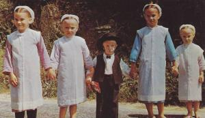 Greetings From Dutch Country, Amish Children in Sunday Dress, Dutch Country, ...