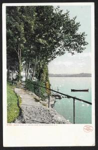 Shore Path Weirs Lake Winnipesaukee New Hampshire Unused c1910s
