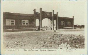 68825 - NETHERLANDS :  Curacao  -  VINTAGE POSTCARD  :  FOOTBALL STADIUM   1924