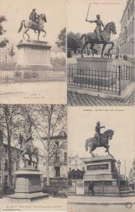 EQUESTRE STATUES HORSES FARNCE 76 Cartes Postales 1900-1940