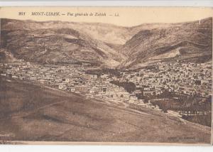 B80622 mont liban vue generale de zahleh  liban lebanon front/back image