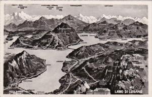 Switzerland Lago di Lugano Totalansicht Photo