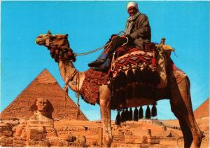 CPM EGYPTE Giza-Camel driver near the Sphinx and Khafre Pyramid (344044)