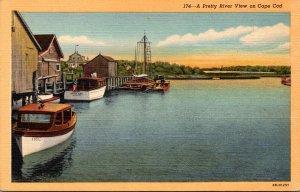 Massachusetts Cape Cod West Harwich Herring River View Curteich