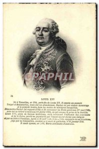 Old Postcard King Louis XVI of France