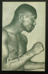 Mint USA Real Picture Postcard Black America Johnny Saxton Boxer