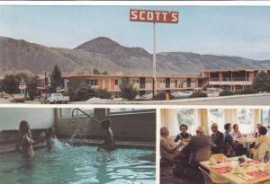 Indoor Swimming Pool, Dining Area, Scott´s Motor Inn, Kamloops, British Colu...