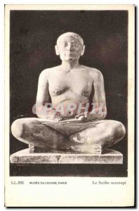 Old Postcard The Louvre Museum Paris squatting Sribe
