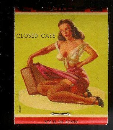GALLO SHOE Pin-up 'Closed Case' 1950s Full Unstruck Matchb'k