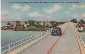 Florida Keys Overseas Highway Over Pigeon Key 1949 Curteich