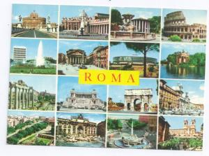 Italy Roma Multiview 16 Views of Rome 4X6 Postcard