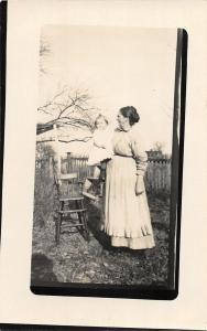 F36/ Jackson Ohio RPPC Postcard c1915 Betty Elliot Liberty Twp Child Mother 8