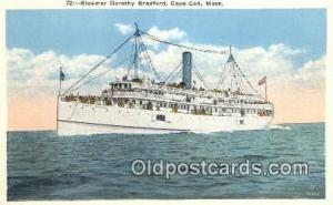 Steamer Dorothy, Cape Cod, Massachusetts, MA USA Steam Ship Postcard Post Car...
