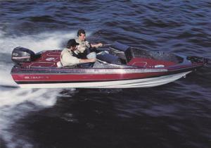 Boat ad, Maxum boat company, Washington, USA, 50-70s ; Model, Quantum 1600/XB