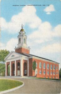 Crawfordsville Indiana~Wabash Chapel~Weather Vane on Cupola~1940s