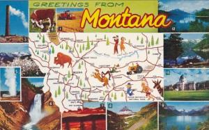 Greetings From Montana With Map