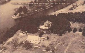 New York Port Jervis Aerial View Of Tri State Bible Conference Albertype