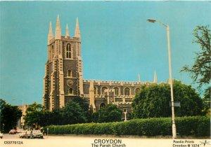 England Postcard Croydon Parish Church