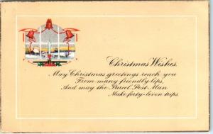 Arts and Crafts   CHRISTMAS WISHES   1925   Postcard*