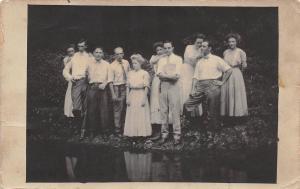 D67/ Muskogee Cottage Cliffs Oklahoma Ok Real Photo RPPC Postcard 1910 People