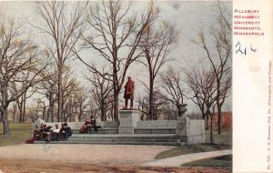 Minneapolis Minnesota~Pillsbury Monument @ University~People on Steps~c1910 Pc