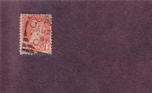 Guelph, Ontario, Squared Circle Cancel on Victoria 3 Cent Stamp