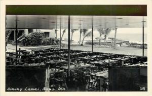 Dining Lanai Kona Inn Hawaii 1940s RPPC Photo Postcard 11402