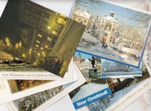 Steyr At Christmas 8x Austria Postcard s