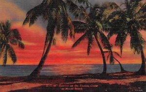 Sunrise on the Florida Coast  Miami Beach FL