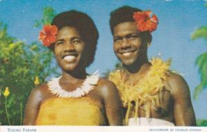 Fiji Young Fijians In Native Costume
