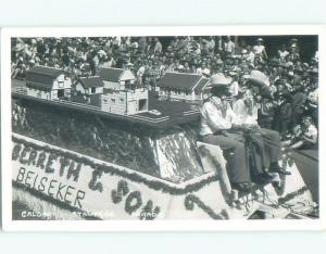Pre-1962 rppc CALGARY STAMPEDE FLOAT Calgary Alberta AB W1026