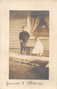 C17/ People Real Photo RPPC Postcard 1919 Columbia City Indiana Children 21
