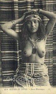 Jeune Mauresque Arab Nude writing on back light crease bottom right edge