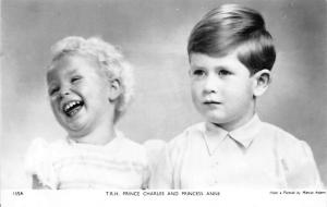 Royalty Young Children, T.R.H. Prince Charles and Princess Anne, Real Photo