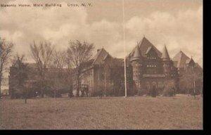 New York Utica Masonic Home Main Building Albertype