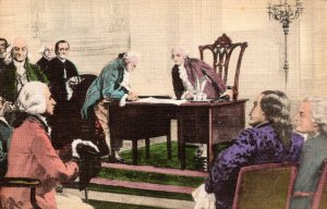 The Signing Of The Constitution Of The United States Of America Handcololred ...