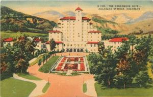 The Broadmoor Hotel Colorado Springs Colorado Linen Postcard