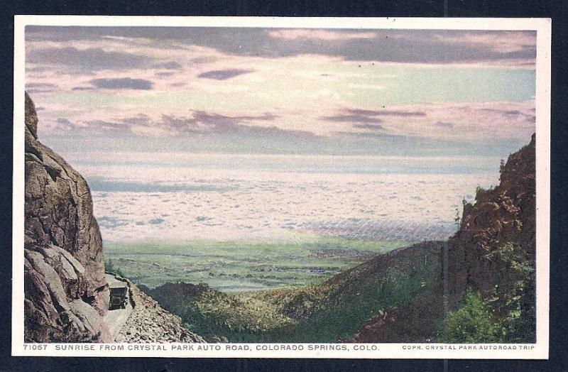 Sunrise Crystal Park Road Colorado Springs CO Unused c1920s
