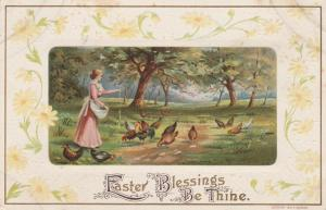 Easter Blessings Be Thine - H Wessler - Greetings - DB
