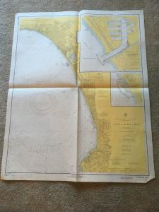 Vintage Nautical Map Chart: 5144 Santa Monica Bay 13th Ed 7/7/69